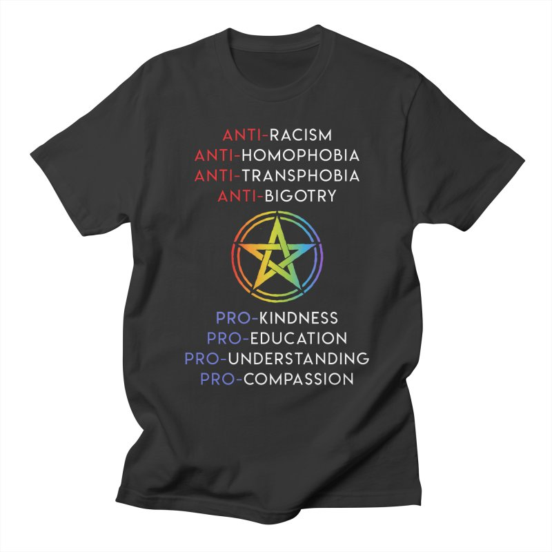 Anti/Pro Pentagram Men's T-Shirt by Mandragora Magika