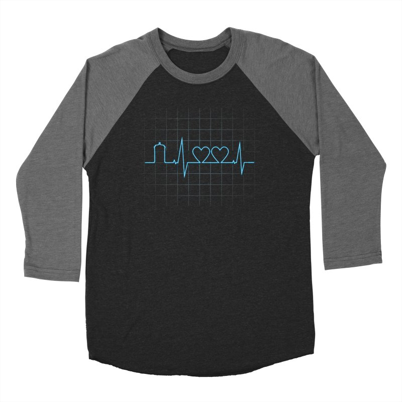 Two Heartbeats Men's Baseball Triblend T-Shirt by mandrie's Artist Shop