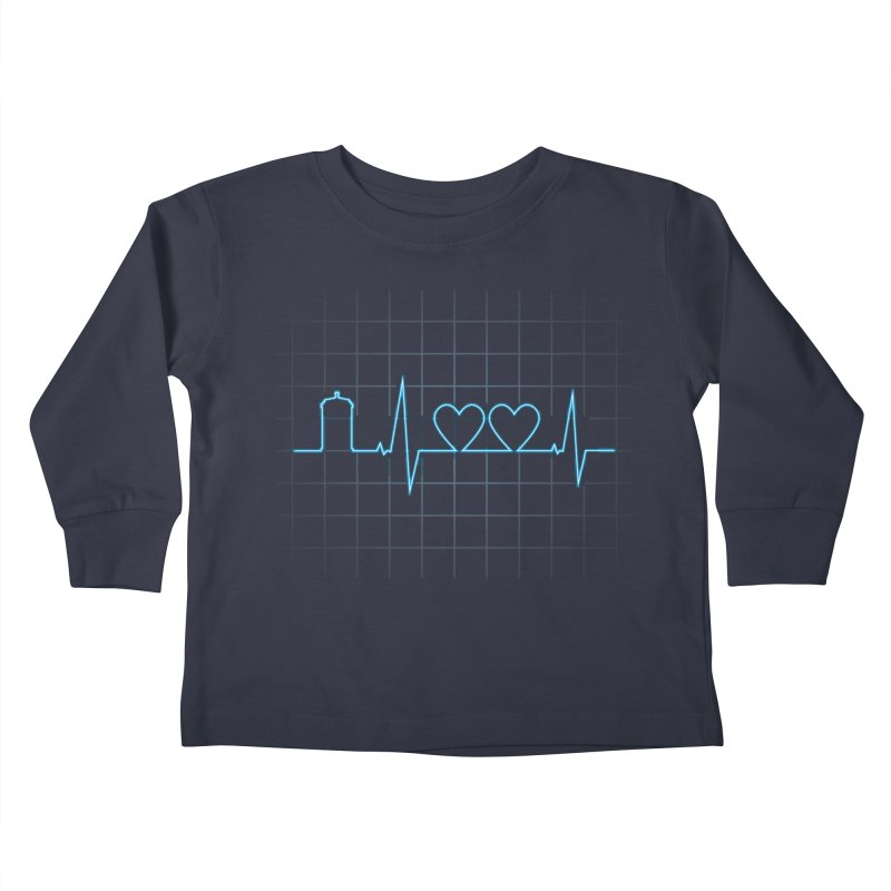Two Heartbeats Kids Toddler Longsleeve T-Shirt by mandrie's Artist Shop