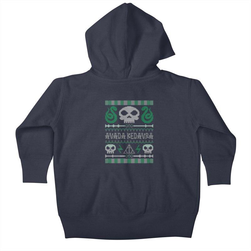 The Dark Sweater Kids Baby Zip-Up Hoody by mandrie's Artist Shop