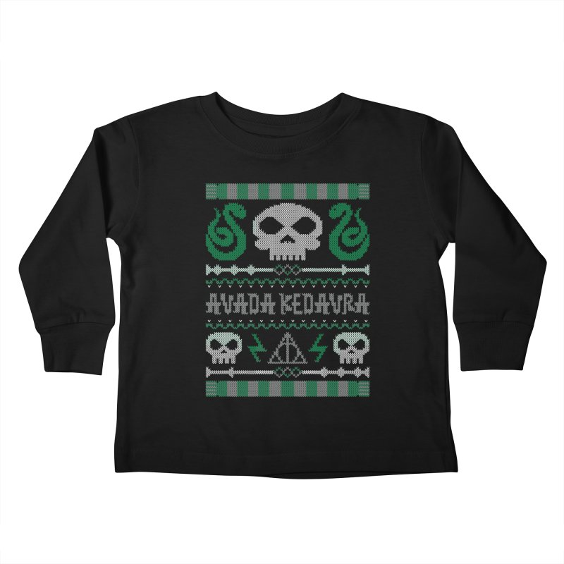 The Dark Sweater Kids Toddler Longsleeve T-Shirt by mandrie's Artist Shop