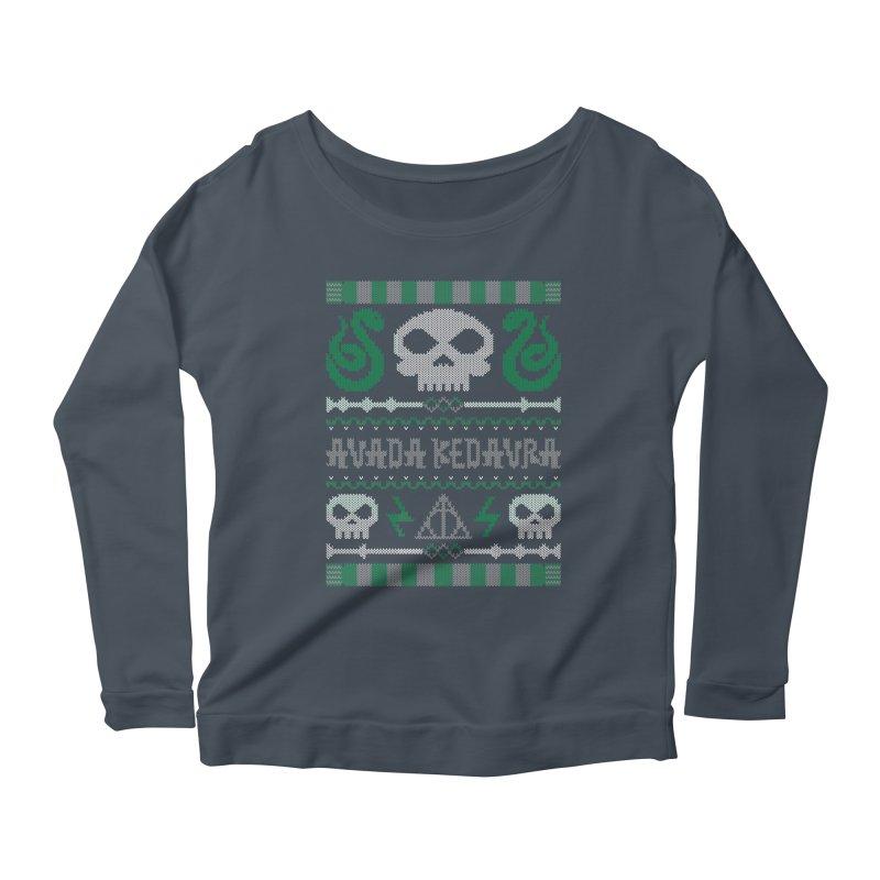 The Dark Sweater Women's Longsleeve Scoopneck  by mandrie's Artist Shop
