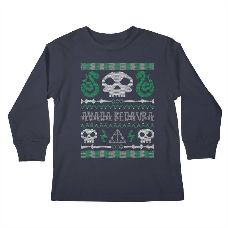 The Dark Sweater Kids Longsleeve T-Shirt by mandrie's Artist Shop