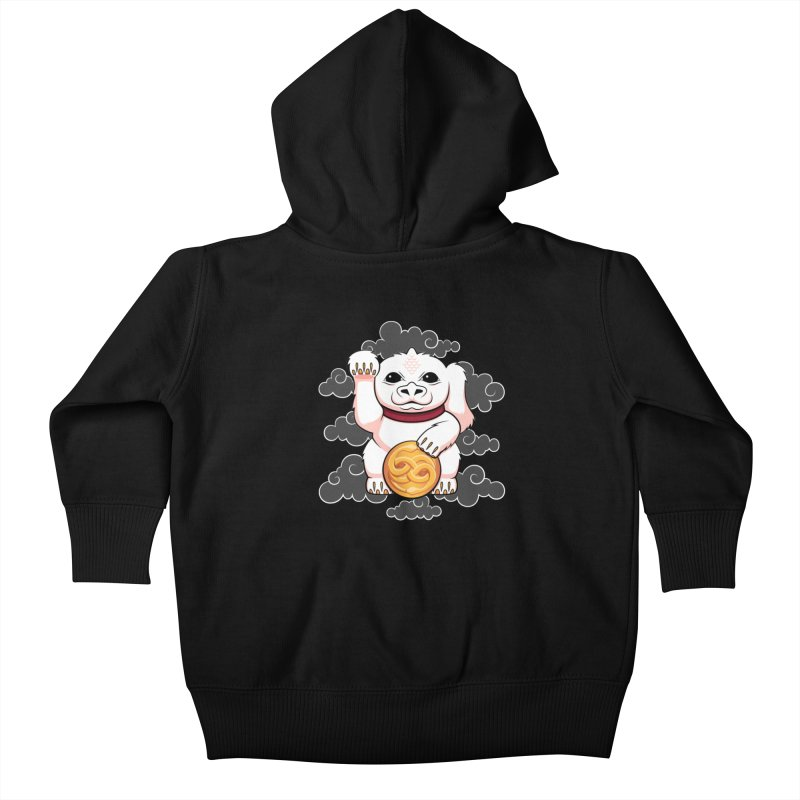 Lucky Dragon Kids Baby Zip-Up Hoody by mandrie's Artist Shop