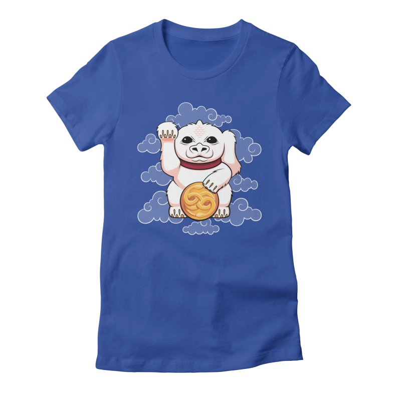 Lucky Dragon Women's Fitted T-Shirt by mandrie's Artist Shop