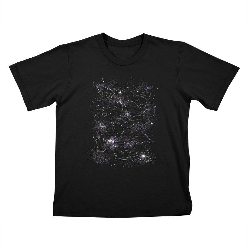 Star Ships Kids T-shirt by mandrie's Artist Shop