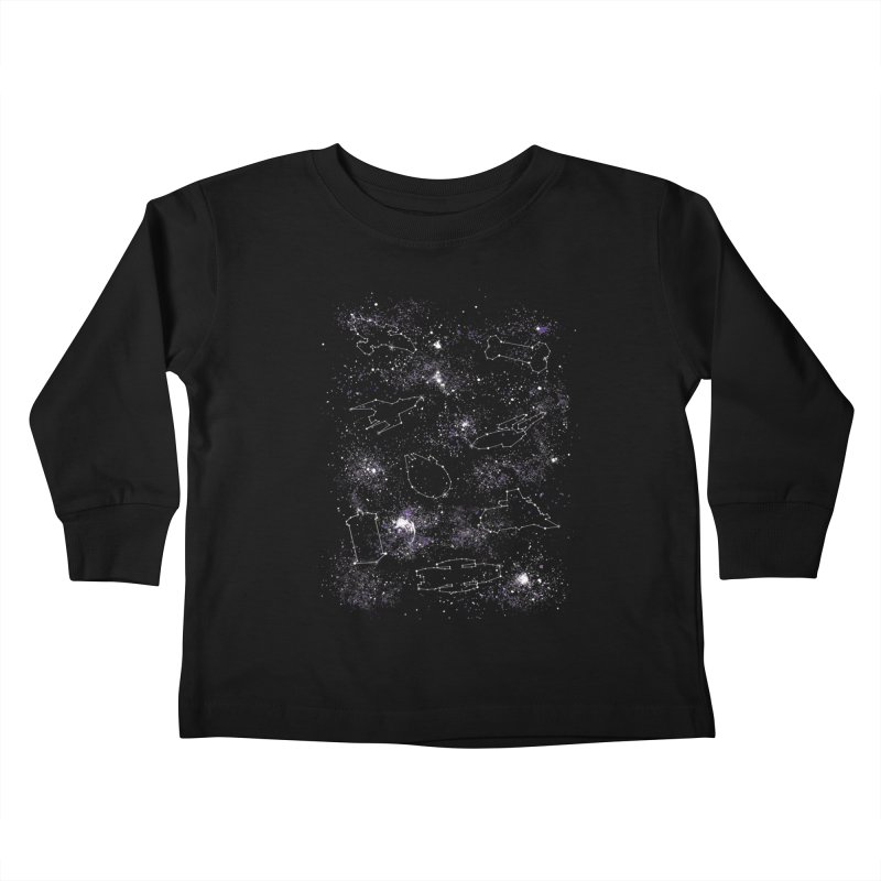 Star Ships Kids Toddler Longsleeve T-Shirt by mandrie's Artist Shop
