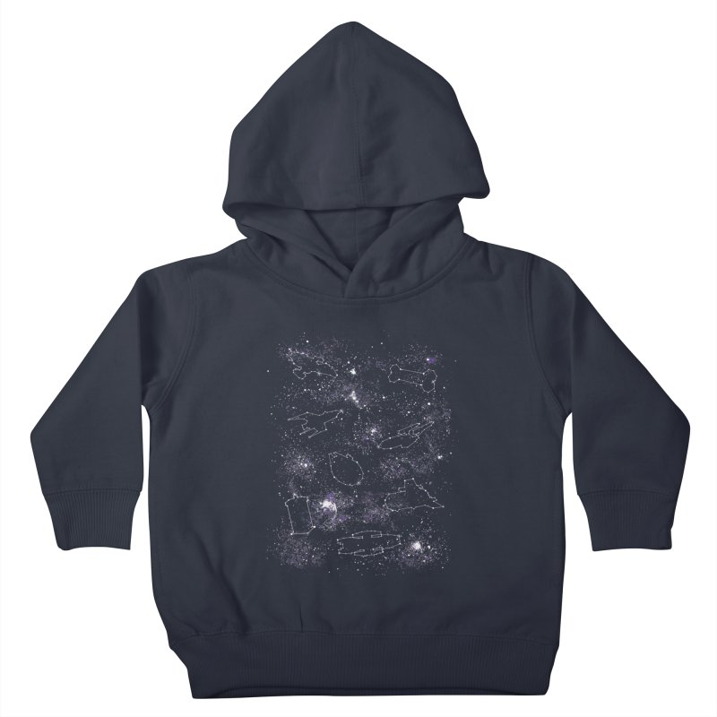 Star Ships Kids Toddler Pullover Hoody by mandrie's Artist Shop