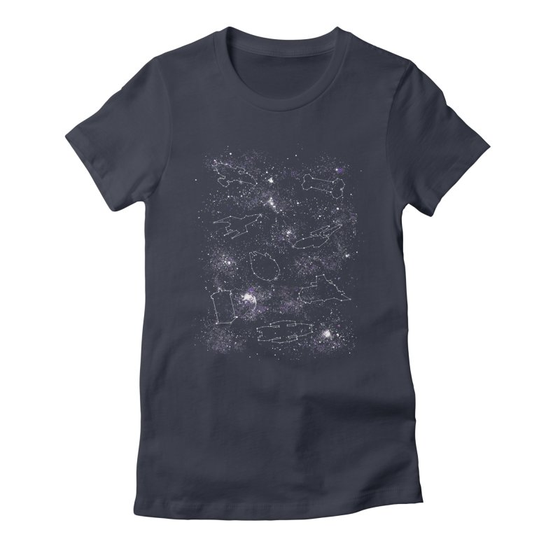 Star Ships Women's Fitted T-Shirt by mandrie's Artist Shop
