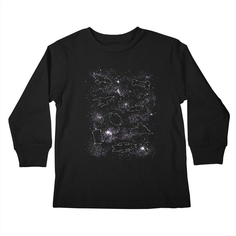 Star Ships Kids Longsleeve T-Shirt by mandrie's Artist Shop