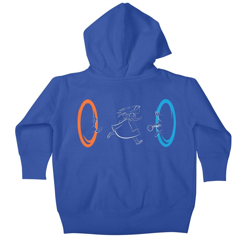 Forever Late Kids Baby Zip-Up Hoody by mandrie's Artist Shop