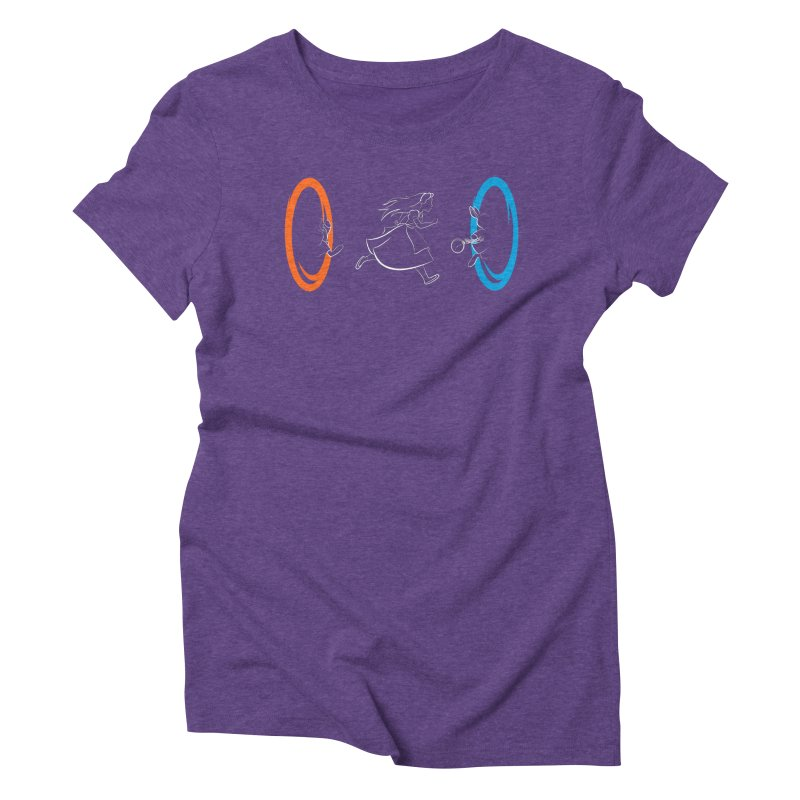 Forever Late Women's Triblend T-shirt by mandrie's Artist Shop