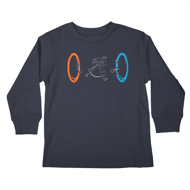 Forever Late Kids Longsleeve T-Shirt by mandrie's Artist Shop