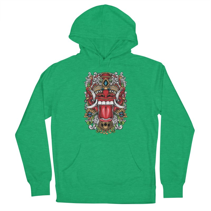 Red Boma Men's French Terry Pullover Hoody by MHYdesign
