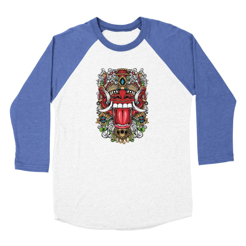 Red Boma Women's Baseball Triblend Longsleeve T-Shirt by MHYdesign