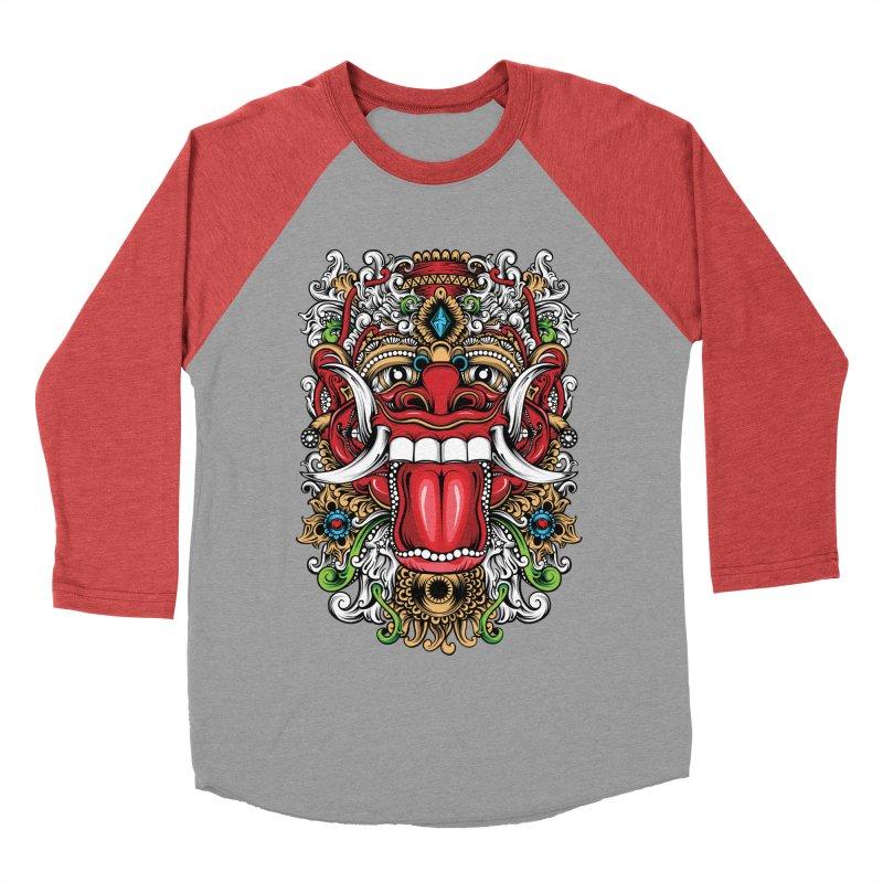 Red Boma Women's Baseball Triblend Longsleeve T-Shirt by MHYdesign