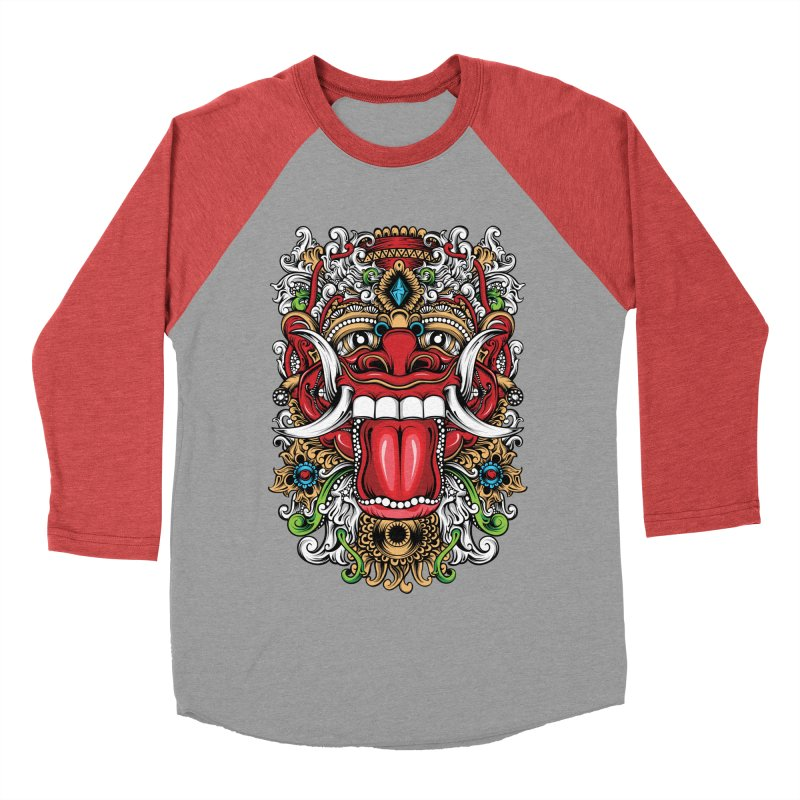 Red Boma Men's Baseball Triblend Longsleeve T-Shirt by MHYdesign