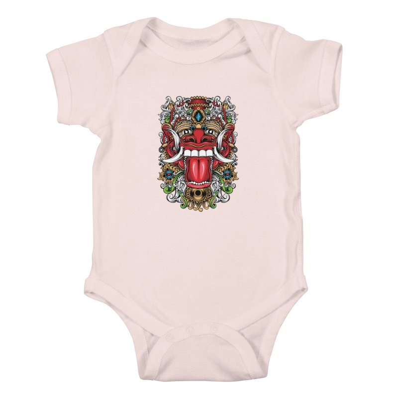 Red Boma Kids Baby Bodysuit by MHYdesign