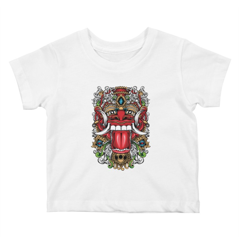 Red Boma Kids Baby T-Shirt by MHYdesign