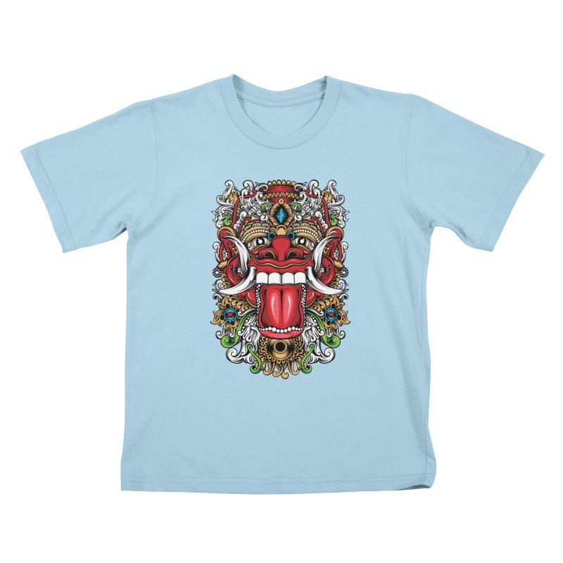 Red Boma Kids T-Shirt by MHYdesign