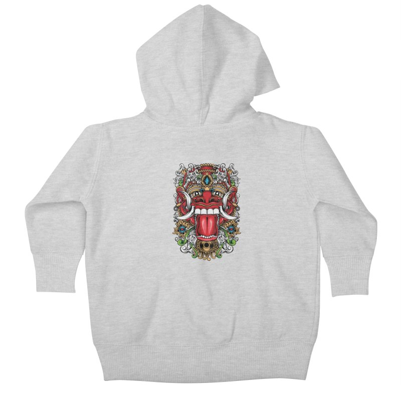 Red Boma Kids Baby Zip-Up Hoody by MHYdesign