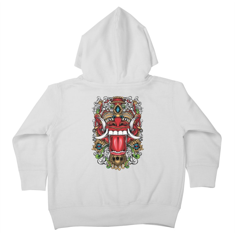 Red Boma Kids Toddler Zip-Up Hoody by MHYdesign