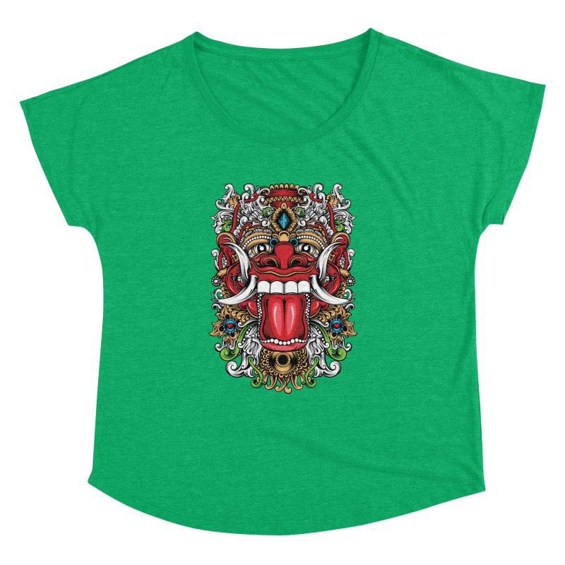 Red Boma Women's Dolman Scoop Neck by MHYdesign