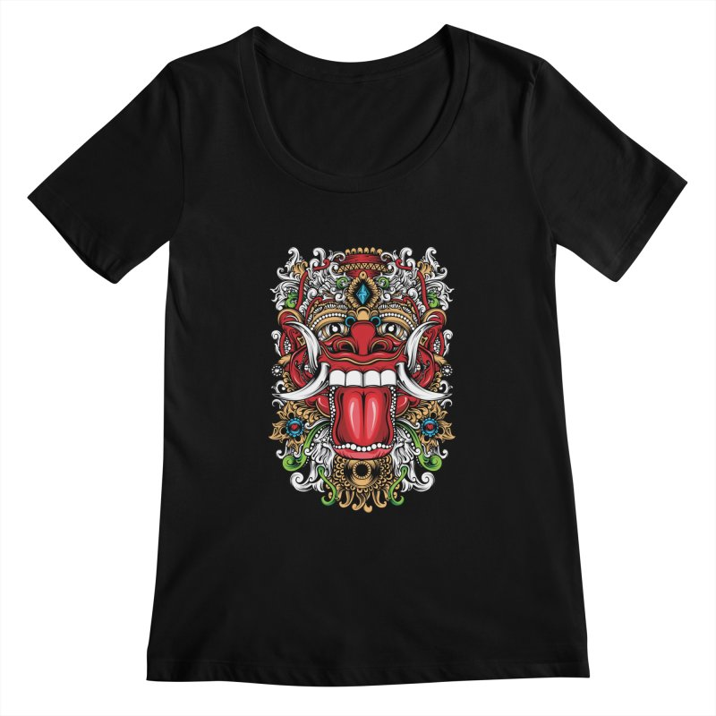 Red Boma Women's Scoopneck by MHYdesign