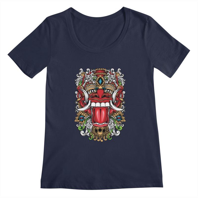 Red Boma Women's Regular Scoop Neck by MHYdesign