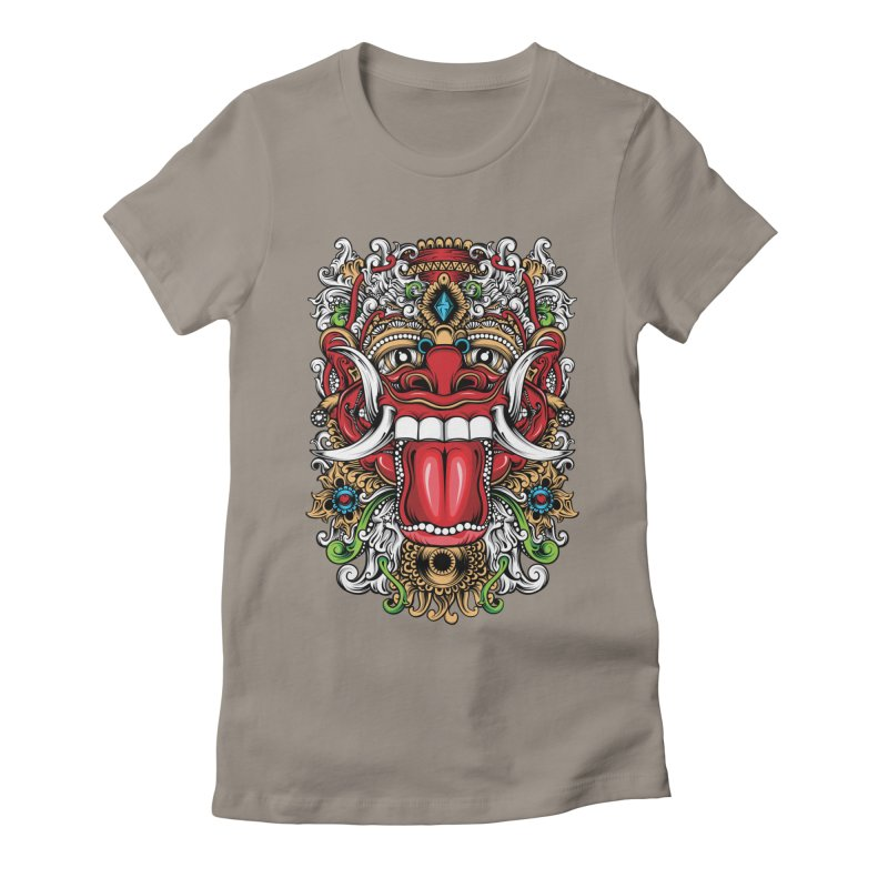 Red Boma Women's Fitted T-Shirt by MHYdesign