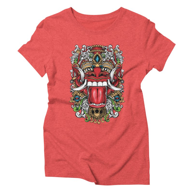 Red Boma Women's Triblend T-Shirt by MHYdesign