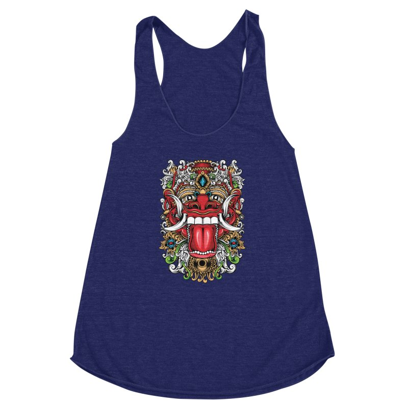 Red Boma Women's Racerback Triblend Tank by MHYdesign