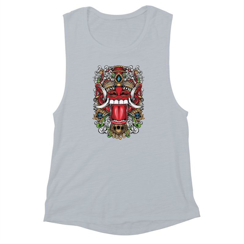 Red Boma Women's Muscle Tank by MHYdesign