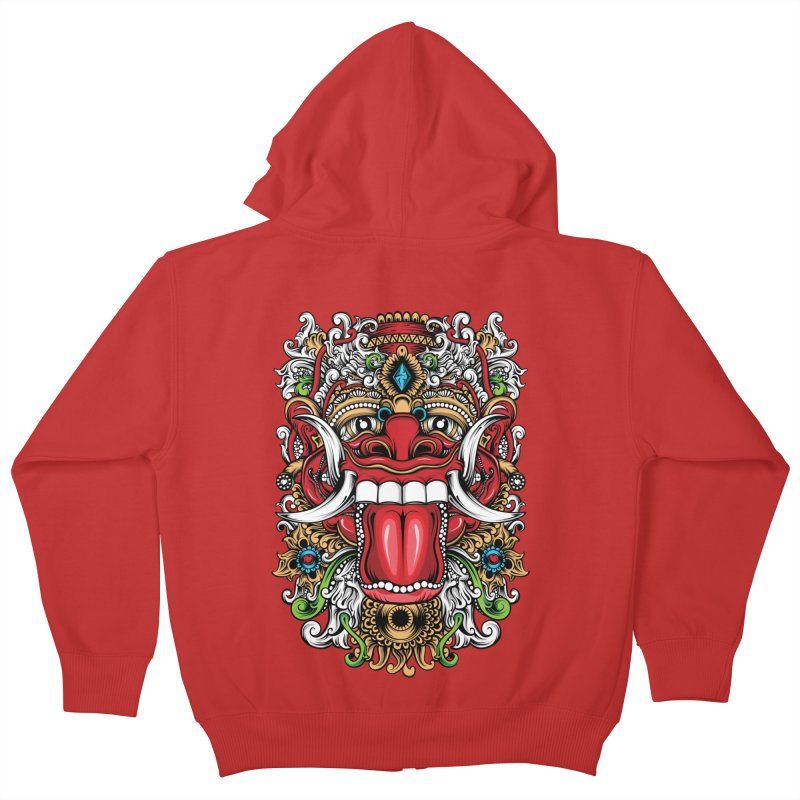 Red Boma Kids Zip-Up Hoody by MHYdesign