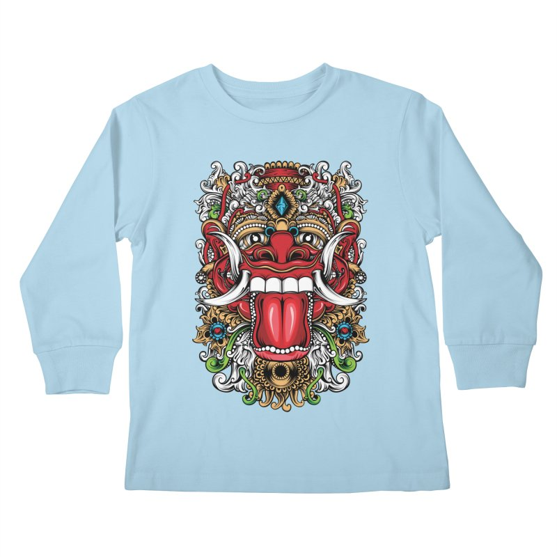 Red Boma Kids Longsleeve T-Shirt by MHYdesign