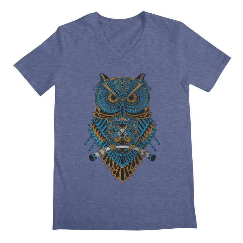 Machinery Owl Men's V-Neck by MHYdesign
