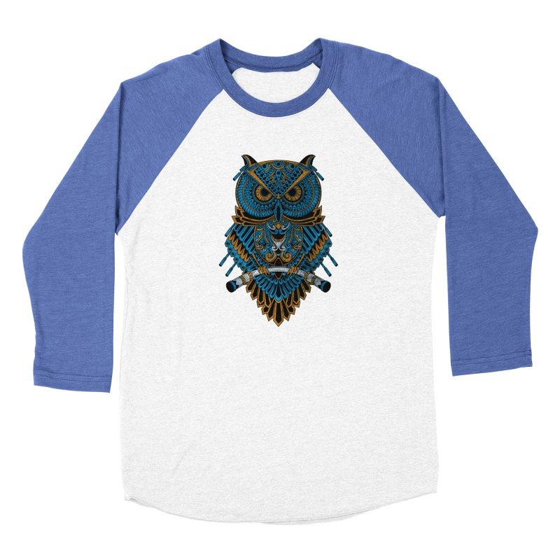 Machinery Owl Men's Baseball Triblend Longsleeve T-Shirt by MHYdesign