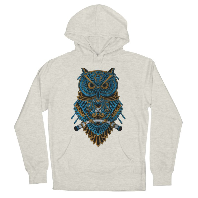 Machinery Owl Women's French Terry Pullover Hoody by MHYdesign