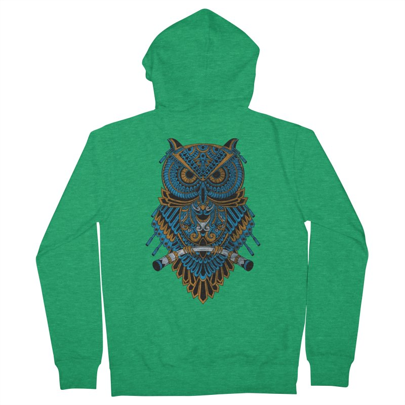 Machinery Owl Women's Zip-Up Hoody by MHYdesign