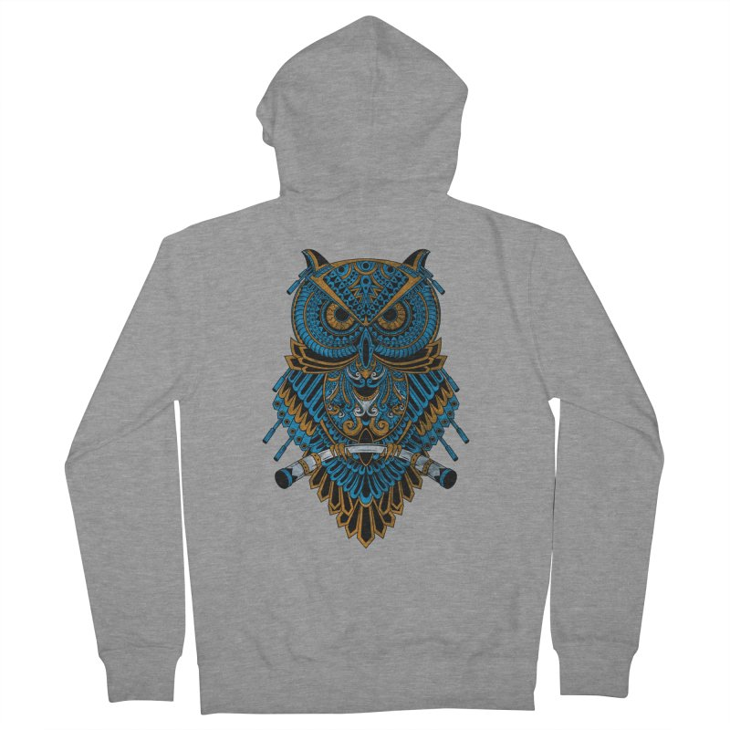 Machinery Owl Women's French Terry Zip-Up Hoody by MHYdesign