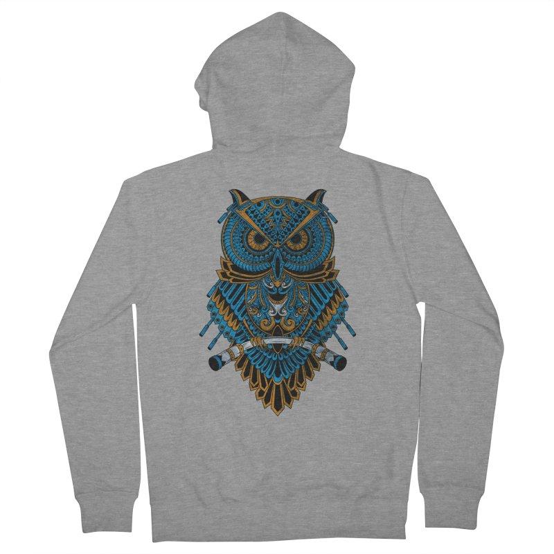 Machinery Owl Men's Zip-Up Hoody by MHYdesign