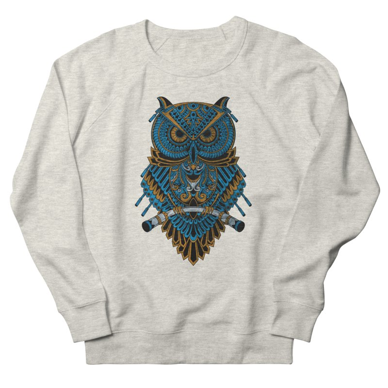 Machinery Owl Women's French Terry Sweatshirt by MHYdesign