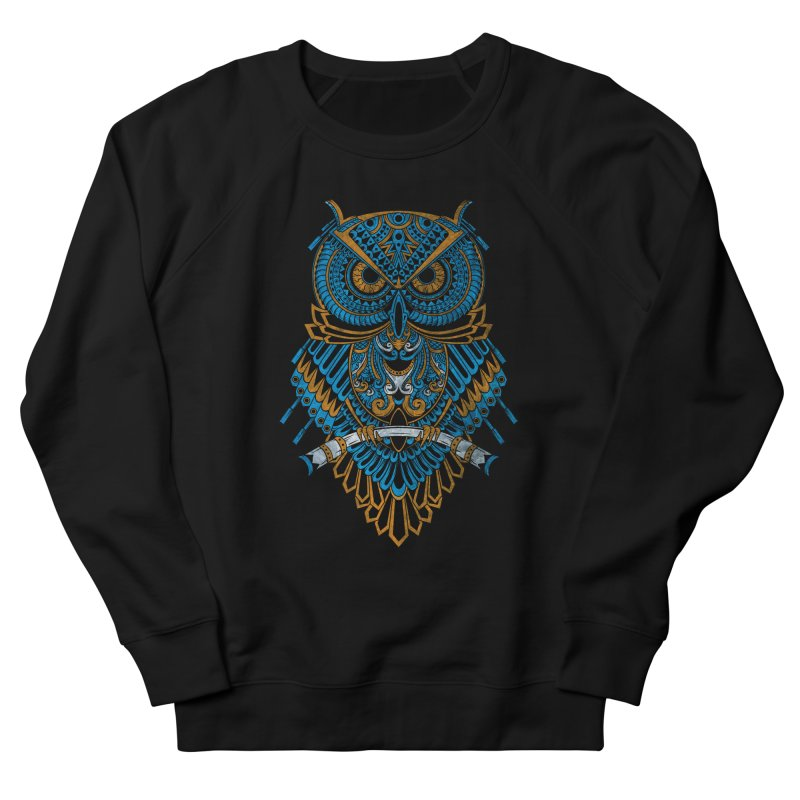 Machinery Owl Men's French Terry Sweatshirt by MHYdesign