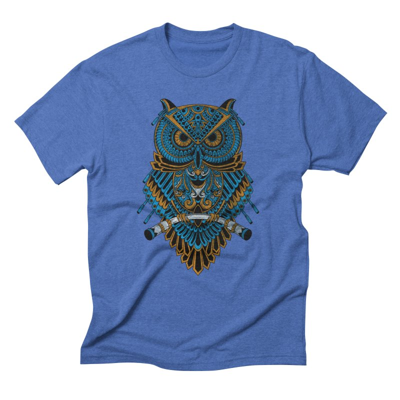 Machinery Owl Men's Triblend T-Shirt by MHYdesign