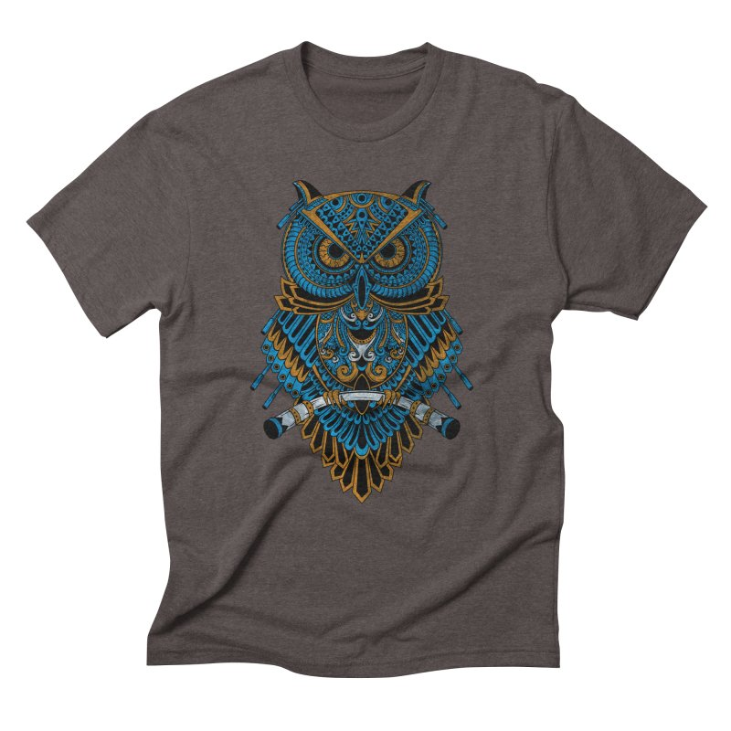 Machinery Owl Men's Triblend T-Shirt by MHYdesign