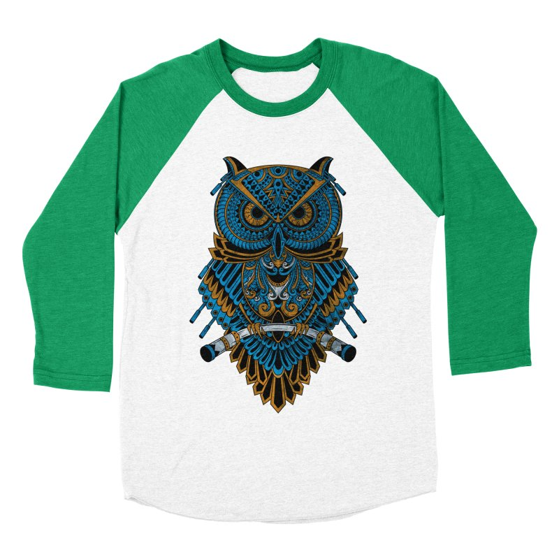 Machinery Owl Women's Baseball Triblend T-Shirt by MHYdesign