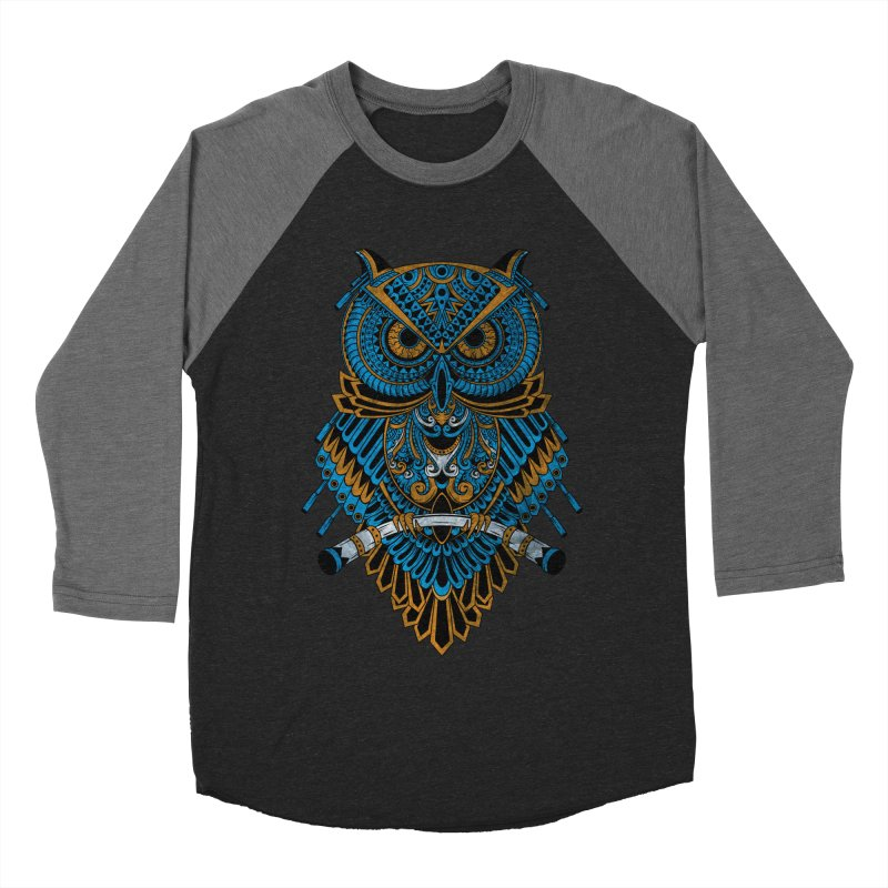 Machinery Owl Women's Longsleeve T-Shirt by MHYdesign