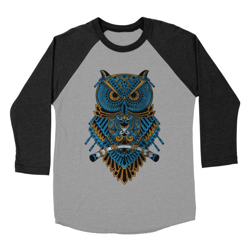Machinery Owl Women's Baseball Triblend Longsleeve T-Shirt by MHYdesign