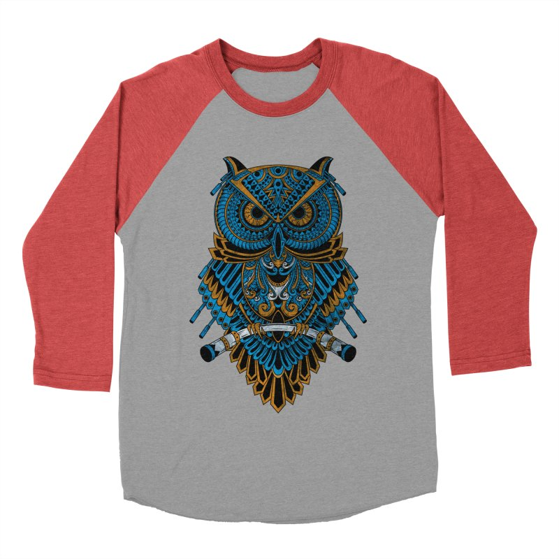 Machinery Owl Men's Baseball Triblend Longsleeve T-Shirt by MHYdesign