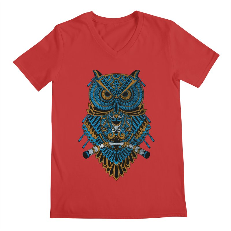 Machinery Owl Men's V-Neck by MHYdesign